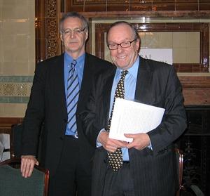 Professor Michael Clarke and Michael Ancram MP