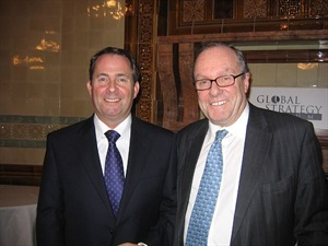 Dr Liam Fox MP Shadow Defence Secretary, and Michael Ancram MP