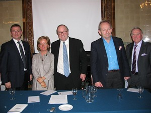 Malcolm Bruce MP, Andrew Wilson, Lorna Fitzsimons, Michael Ancram MP, Alastair Crooke, and Andrew Wilson