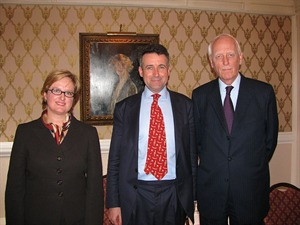 Oksana Antonenko, Bernard Jenkin MP (in the chair) and General Sir Garry Johnson