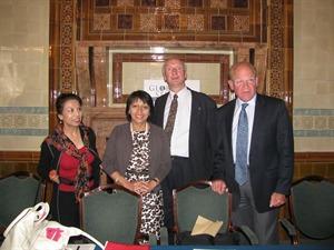 Dr Farzana Shaikh, Baroness Falkner of Margravine, Sir Hilary Synnott KCMG