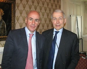 Johan Eliasch, President of Global Strategy Forum, and the Rt Hon Frank Field MP