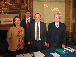 Victoria Clark, Dr Kristian Ulrichsen, Michael Ancram MP and Stephen Day