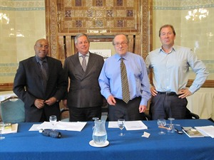Dr Knox Chitiyo, Tony Baldry MP, Michael Ancram (GSF Chairman) and Dr Richard Cockett