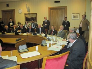 Seminar panellists in Committee Room 2A