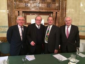 Jack Straw MP, Lord Lothian, Sir Richard Dalton and Lord Lamont